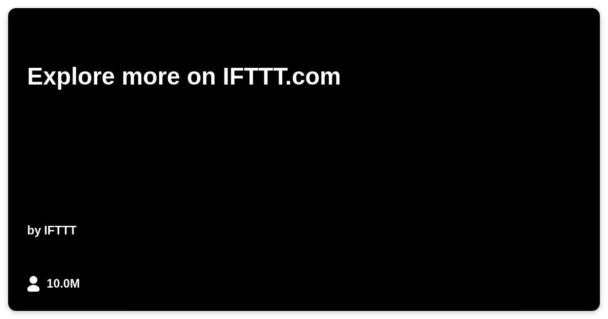 Severe Weather Alert - IFTTT