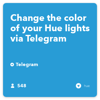 Change the color of your Hue lights via Telegram - IFTTT
