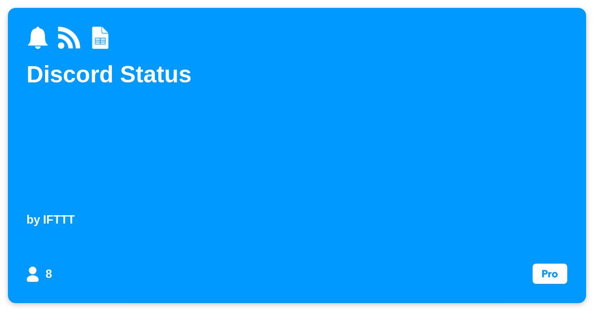 Discord Status - IFTTT