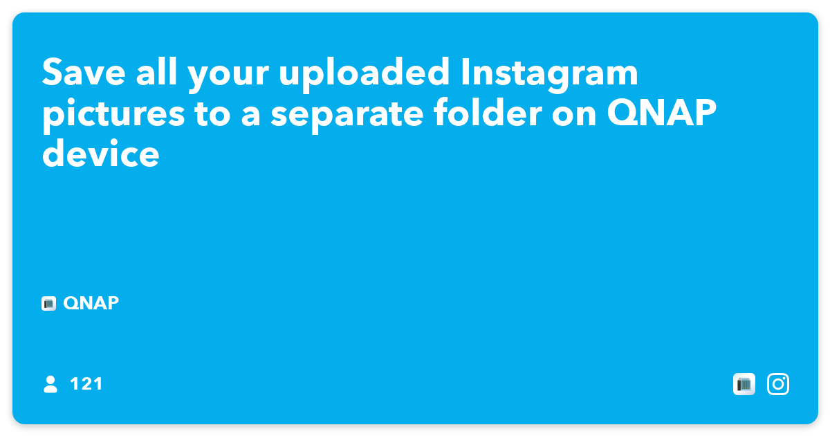 Save all your uploaded Instagram pictures to a separate