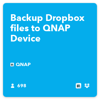 Backup Dropbox files to QNAP Device - IFTTT